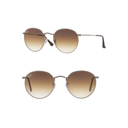 Ray-Ban Unisex RB3447N Round Metal Sunglasses, 50mm (Billige Ray Ban Brillen)