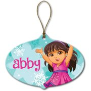 Personalized Dora and Friends Let it Snow Ornament