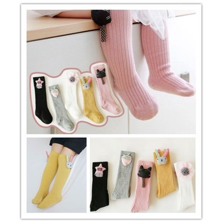 Toddler Kids Baby Girl Autumn Winter Knee High Long Socks Party Casual Cotton