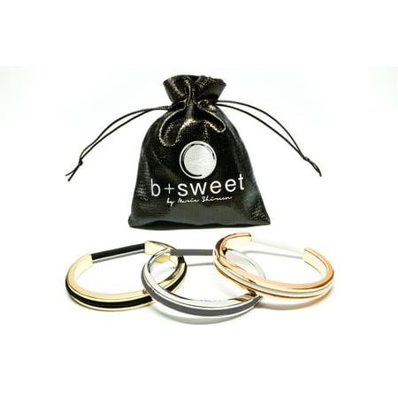 Maria Shireen - Hair Tie Bracelet - Teens Classic 3 pack - Slinky Hair Ties