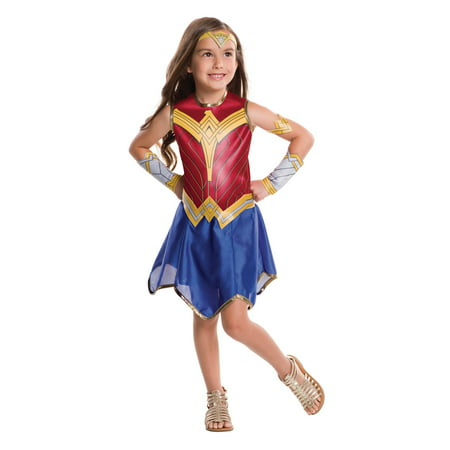 Justice League Girls Wonder Woman Costume (Patriotic Costumes For Women)