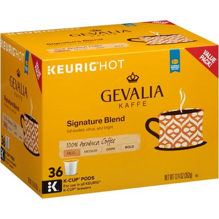 Gevalia Kaffe Signature Blend Mild Roast Coffee K-Cup Packs, 36 count, 12.4 OZ (352g)