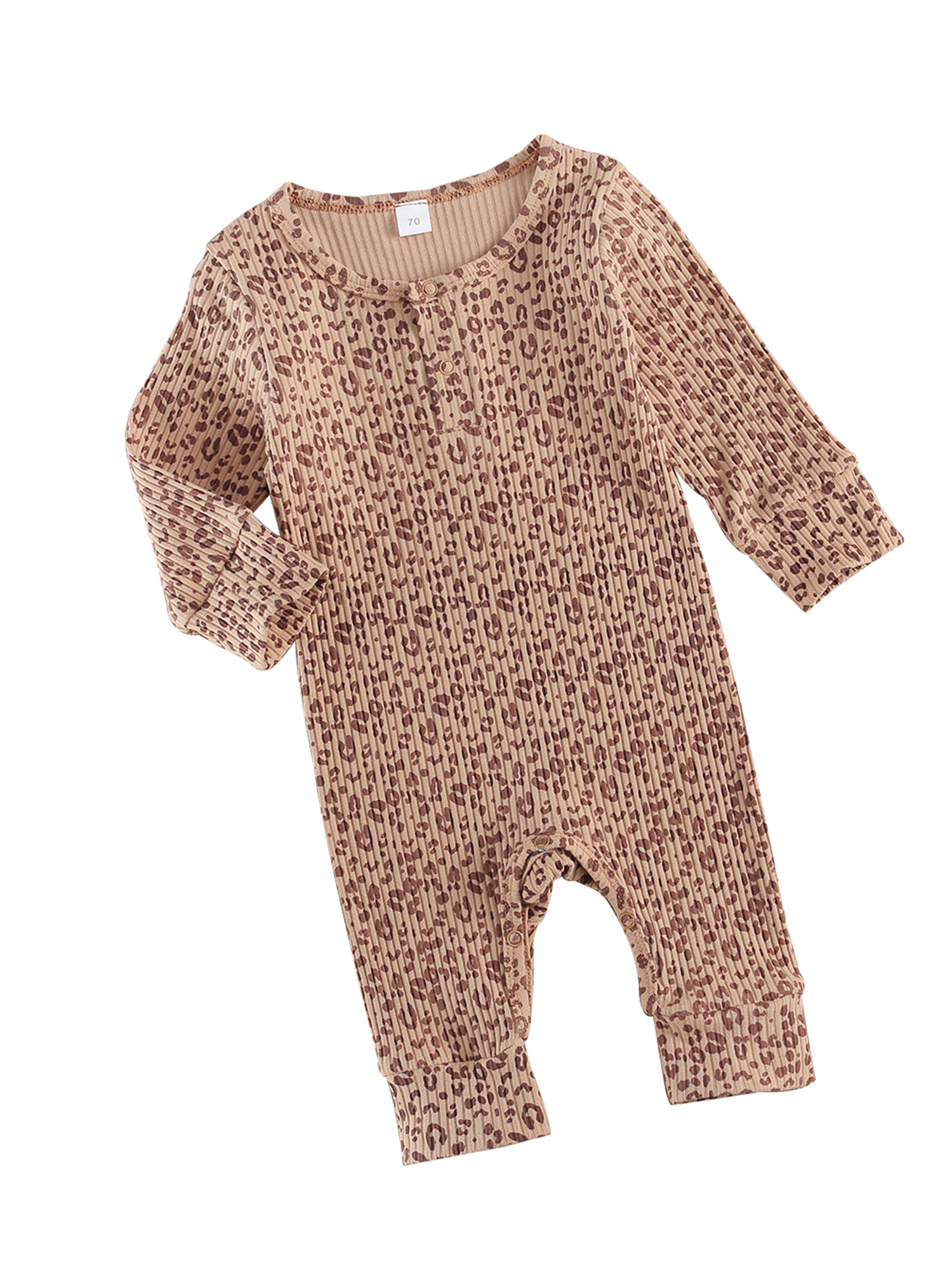 Newborn Baby Boy Girl Leopard Hoodie Romper Infant Long Sleeve Cheetah Hooded Jumpsuit Clothes One Piece Fall Winter Outfits
