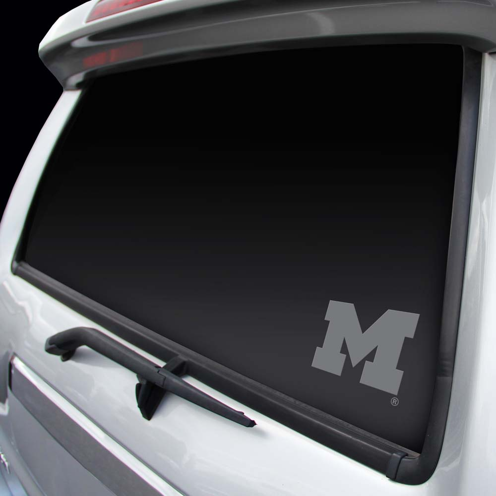 Michigan Wolverines Chrome Window Graphic Decal