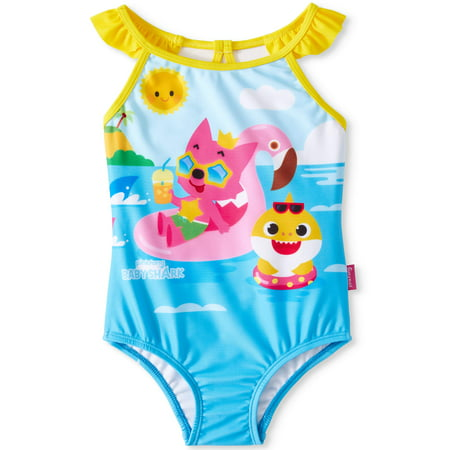 Baby Shark One-Piece Swimsuit (Toddler Girls)
