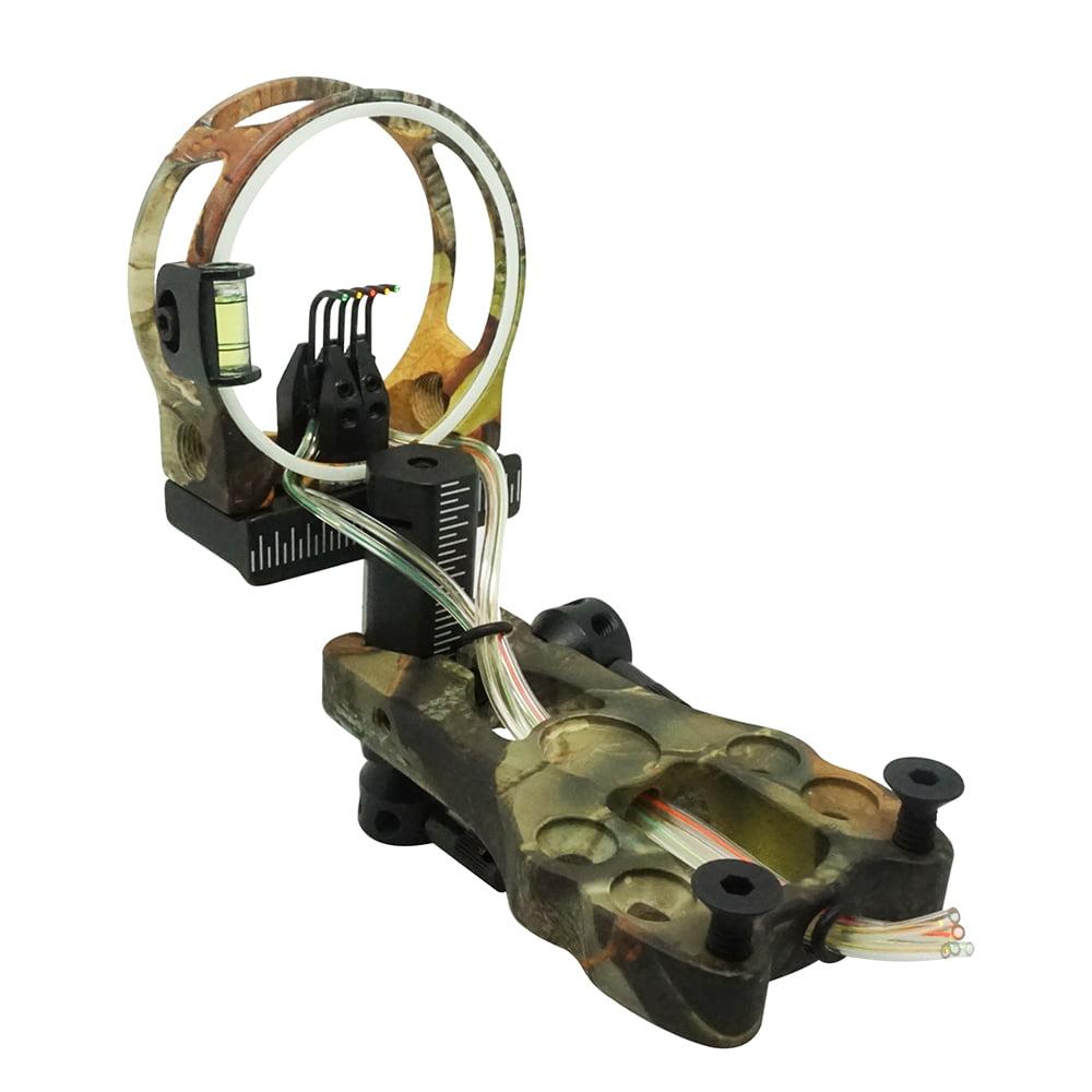"Safari Choice Camouflage 5-Pin 0.019"" Tool-Less Design Bow Sight"