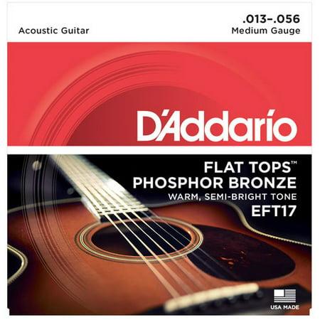 D'Addario EFT17 Flat Top PB Medium Acoustic Guitar Strings ()