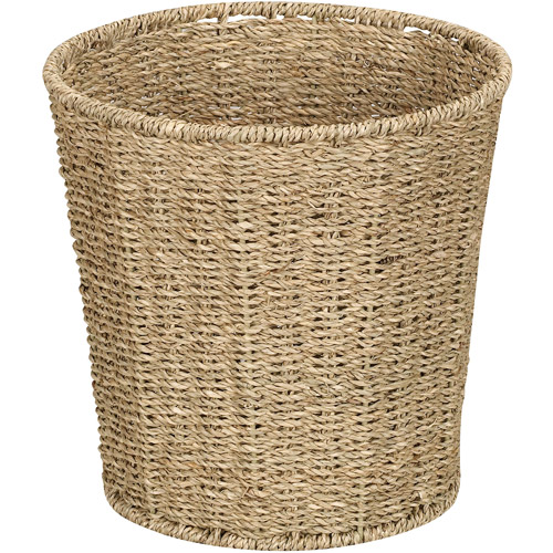 Household Essentials Seagrass 6-Gallon Trash Can