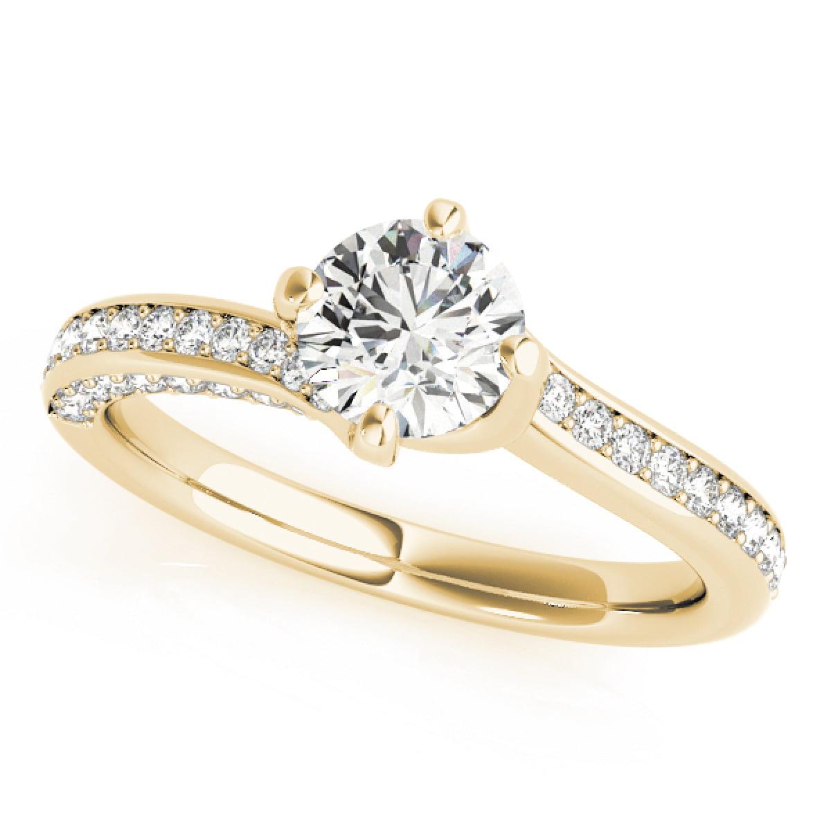 MauliJewels - 0.90 Ct Classic Diamond Engagement Wedding ...
