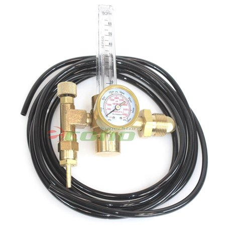 Argon CO2 Mig Tig Flow meter Regulator with Hose 4 Gas Welding Weld Machine, Argon CO2 Mig Tig Flow Meter Welding Weld Gas Regulator Gauge CGA580 W/.., By