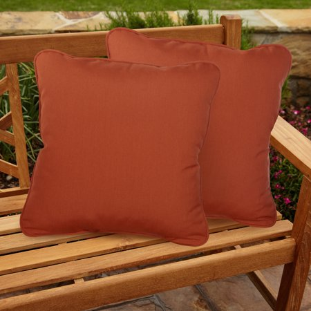 Humble and Haute Sawyer Sunbrella Canvas Rust Indoor/ Outdoor 20 inch Corded Pillow -
