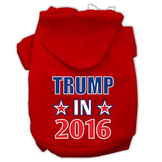 Mirage 62-154 XSRD Trump in 2016 Election Screenprint Pet Hoodie Red - Size XS