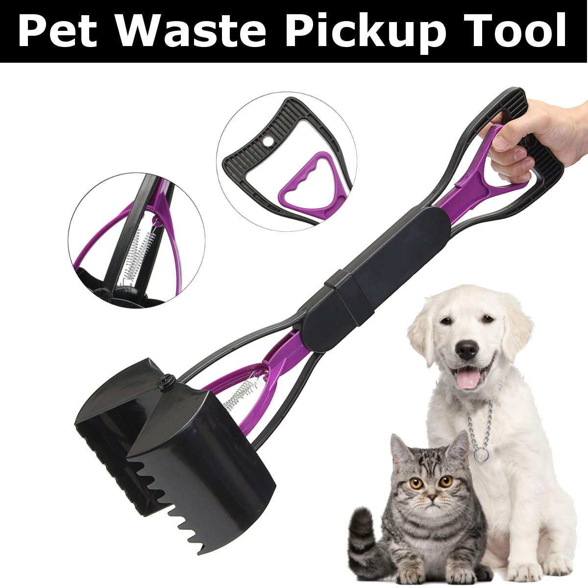 Dog Poop Waste Easy Picker Pickup Pooper Scooper Walking Poo Scoop Grabber Pet
