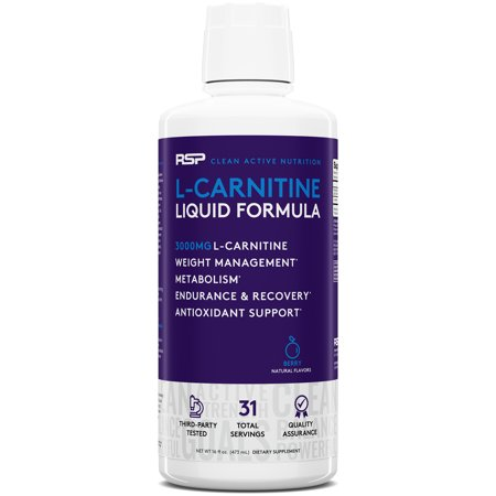 RSP Liquid L-Carnitine 3000 Weight Loss & Fat Burner, Stimulant Free Metabolism Enhancement, Berry, (The Best L Carnitine For Weight Loss)