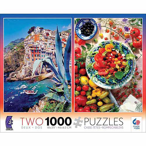 Ceaco 2-Pack Mediterranean Puzzles, 1000 pieces each