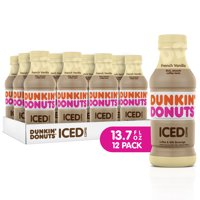 Dunkin' Donuts Iced Coffee, French Vanilla, 13.7 Fl Oz, 12 Count