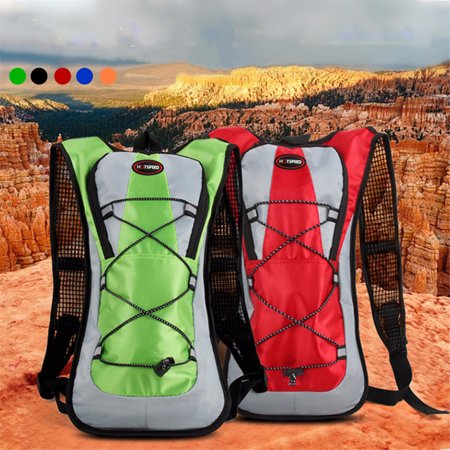 5L Hydration Backpack Rucksack 2L Straw Water Bladder Bag Large Storage Gifts Compartment Backpack For Cycling