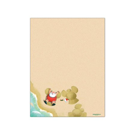 Sand Angels Holiday Christmas Letterhead Stationery - 60 Paper Sheets Per Stationery Pack - 6529
