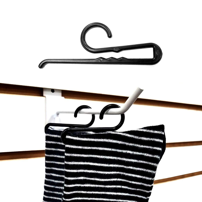 Sock Hanger Hook Non-Slip Sock Clip Black 3.5 L 500 Pack