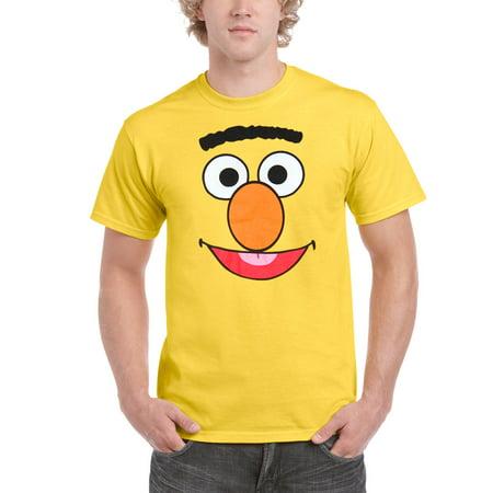 Sesame Street Bert Face Adult T-Shirt - Sesame Street Bert