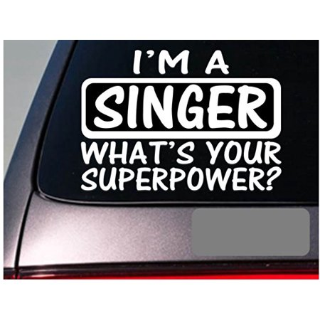 Piano Microphone System - I'm a singer sticker decal *E162* piano microphone pa system voice
