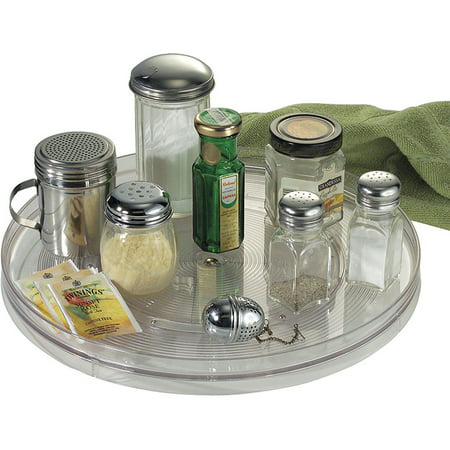Interdesign Linus Lazy Susan Turntable E Organizer Rack For Kitchen Pantry Cabinet Countertops