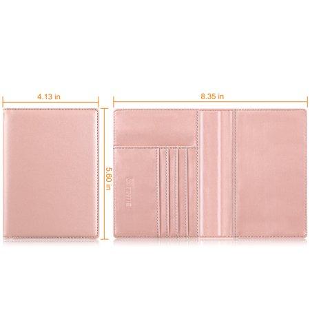 d50c877177b2 Fintie Passport Holder Travel Wallet RFID Blocking Case Cover - Securely  Holds Passport,Boarding Passes ect, Black