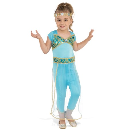Arabian Princess Jasmine Girl Child Genie Halloween Costume ...