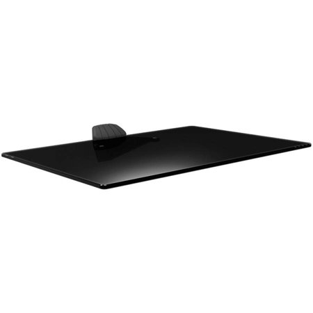Barkan Elegant Audio Video Tempered Glass Shelf, Easy Installation, Black, Up to 22 lbs, 5 Year Warranty.