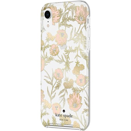 Kate Spade Protective Hardshell Case Blossom Foil for iPhone XR Case for iPhone XR - Gold - image 2 of 5