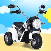Tobbi 6V Kids Ride On Motorcycle Toy Battery Powered Electric 3 Wheel Bicycle White