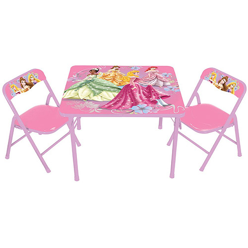 Disney Princess Nouveau Activity Table Set  sc 1 st  Walmart : princess table and chair set - pezcame.com