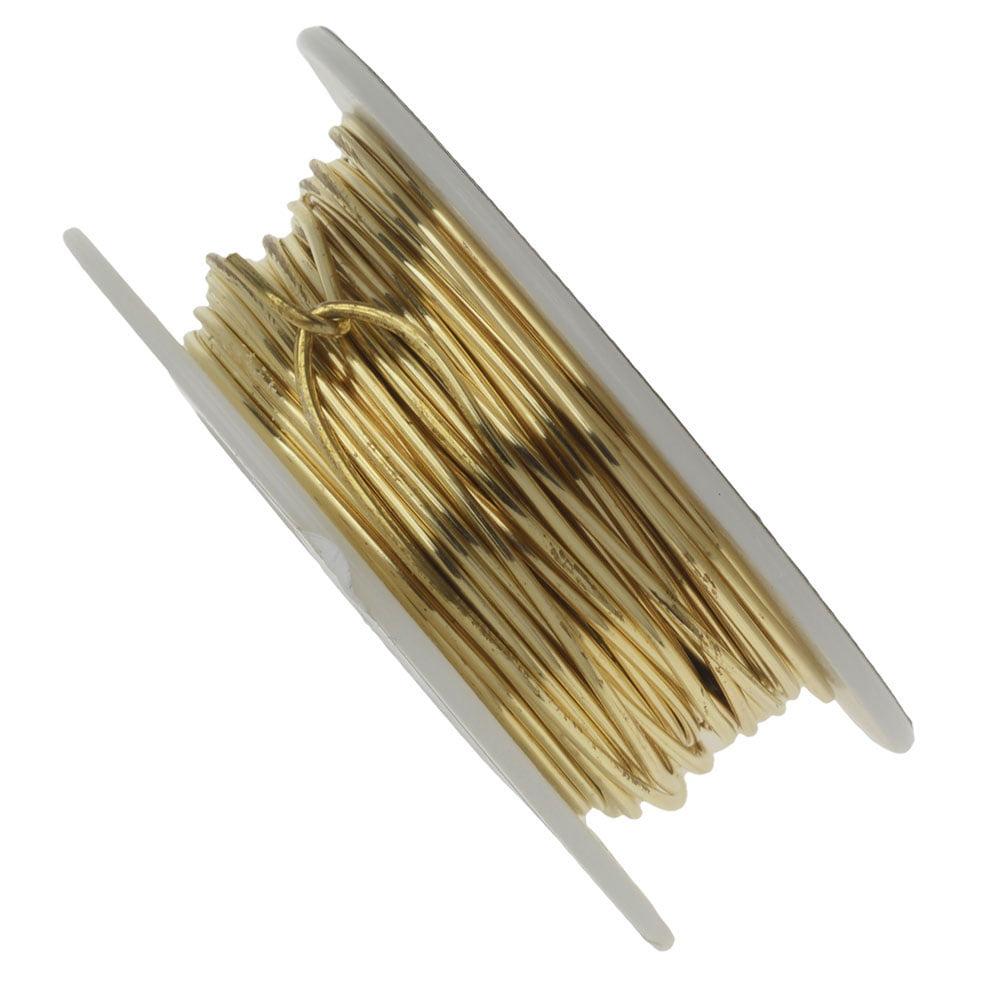 Vintaj Parawire, Solid Brass Craft Wire 18 Gauge Thick, 30 Foot Spool, Brass