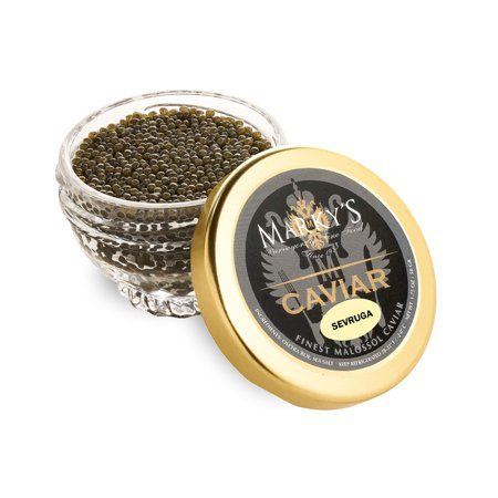Marky's Sevruga Premium Sturgeon Black Caviar - 16 Oz Malossol Sturgeon Black Roe – GUARANTEED