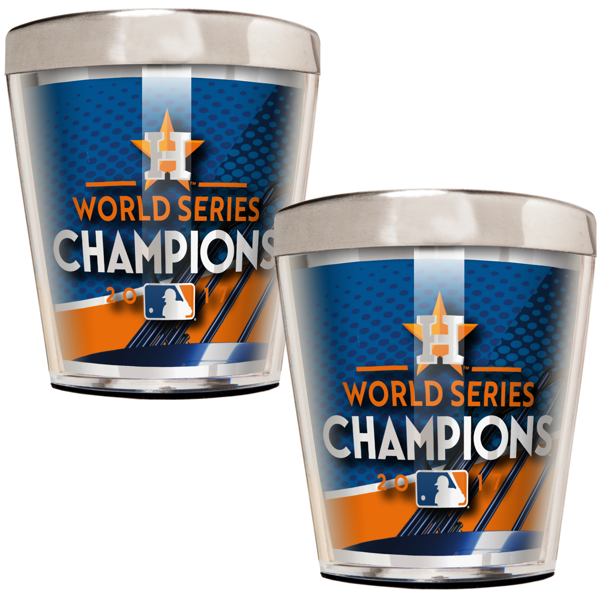 Houston Astros 2017 World Series Champions 2oz. Shot Glass Set - Silver - No Size