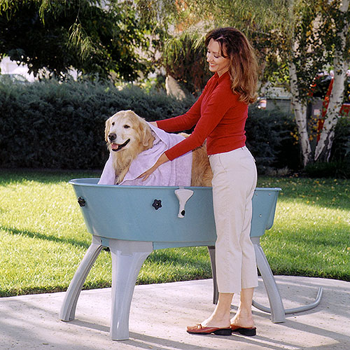 "Booster Bath Indoor Outdoor Grooming Bath Blue - X-Large - Pets up to 175 lbs - (50""L x 21.5""W x 15""D - 19"" Off Floor)"