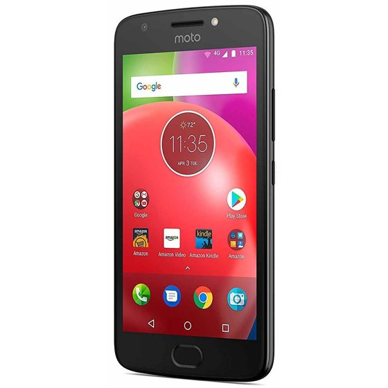 Motorola Moto E4 16GB Unlocked Smartphone - Licorice Black