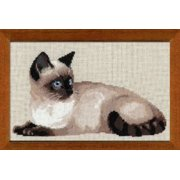Riolis R1066 Counted Cross Stitch Kit, 15 by 10.25-Inch, Thai Cat Multi-Colored