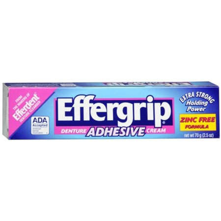 Effergrip Denture Adhesive Cream 2.50 oz (Pack of (Effergrip Denture Adhesive Cream)