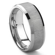 Titanium Kay Tungsten Carbide Satin Finish Mens Wedding Band Ring in Comfort Fit Sz 10.0