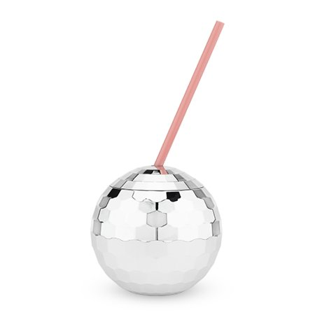 Silver Disco Ball Drink Tumblers by