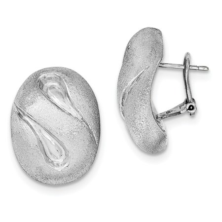 Omega Silver Jewelry Box - Roy Rose Jewelry Sterling Silver Brushed and Polished Omega Back Earrings