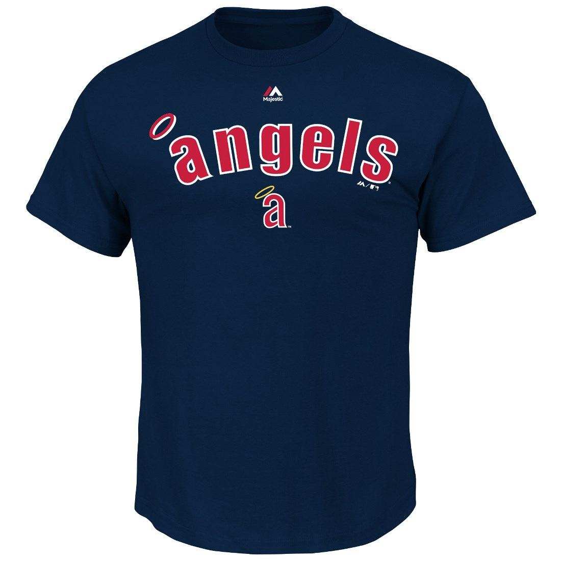 Los Angeles Angels Majestic Cooperstown Collection Series Sweep T-Shirt - Navy