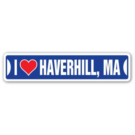 I LOVE HAVERHILL, MASSACHUSETTS Street Sign ma city state us wall road décor gift](Party City Ma)