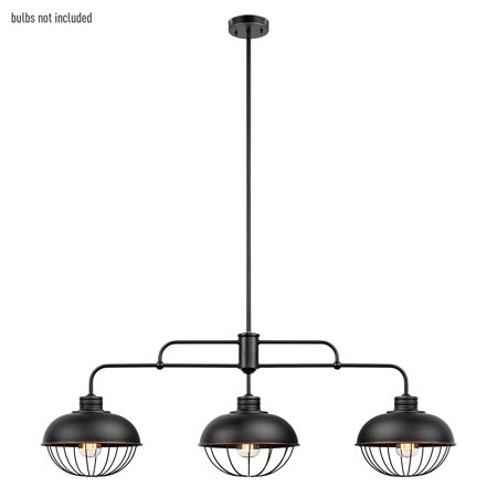 Globe Electric Elior 3-Light Oil Rubbed Bronze Pendant,