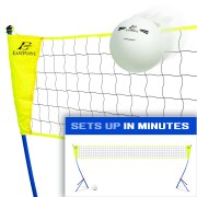 EastPoint Sports Volleyball Net Set, Portable Tripod System for Outdoors