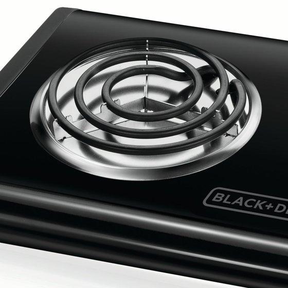 Black Decker Double Burner Portable Buffet Range Db1002b