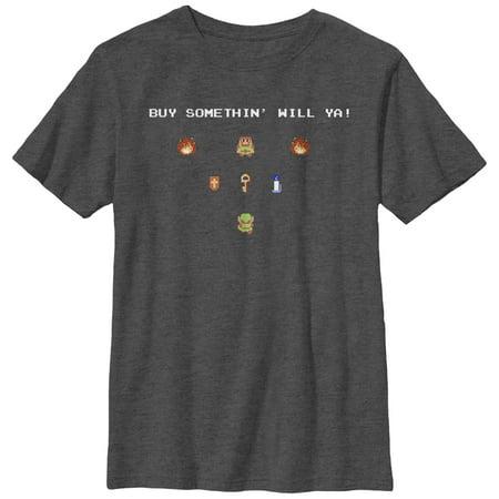 Nintendo Boys' Legend of Zelda Merchant Buy Something T-Shirt (Shawn Mendes Something Big)
