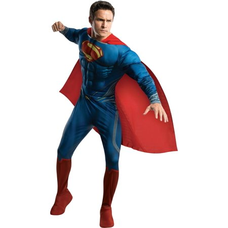 Rubie`s Costume Man Of Steel Deluxe Adult Muscle Chest Superman Blue/Red X-Large Costume