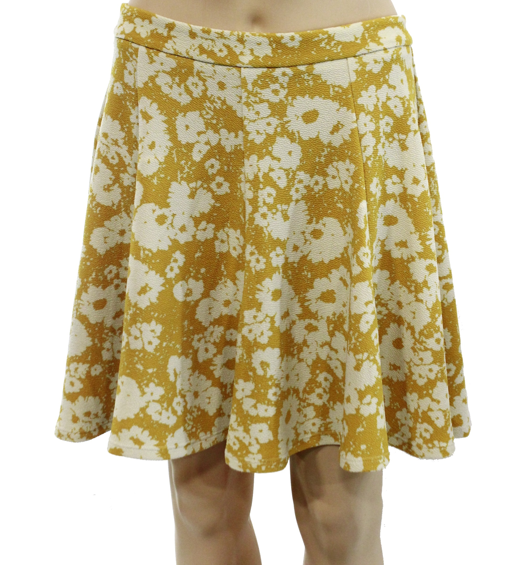 lush new mustard yellow size large l junior printed flare